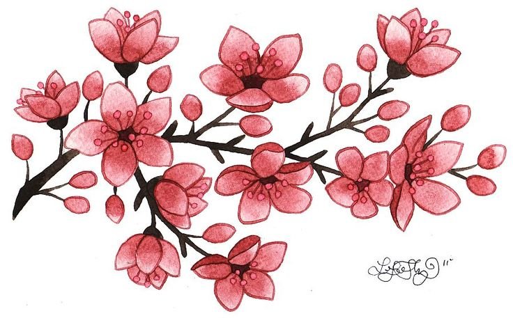736x457 Sakura Flower Embossing