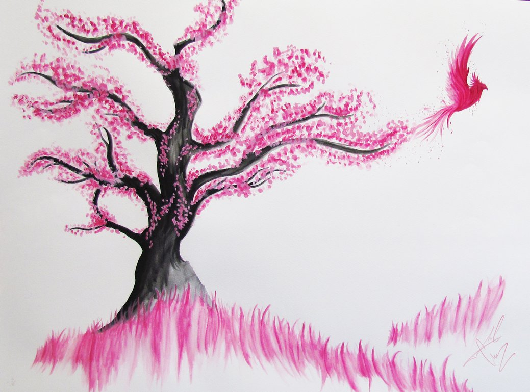 Cherry Blossom Tree Drawing Step By Step At Getdrawings Free Download