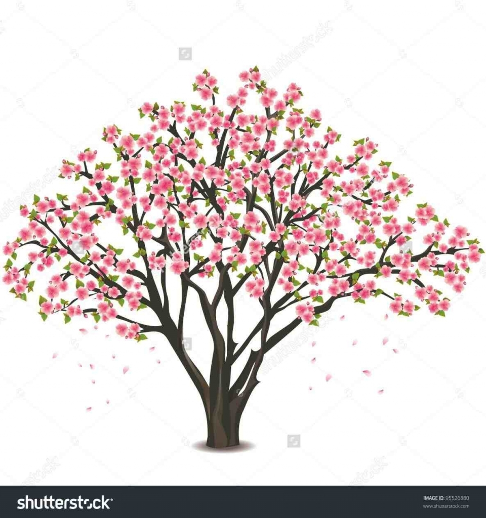 960x1024 Cherry Blossom Tree Drawing Pencil Art Drawing Within How