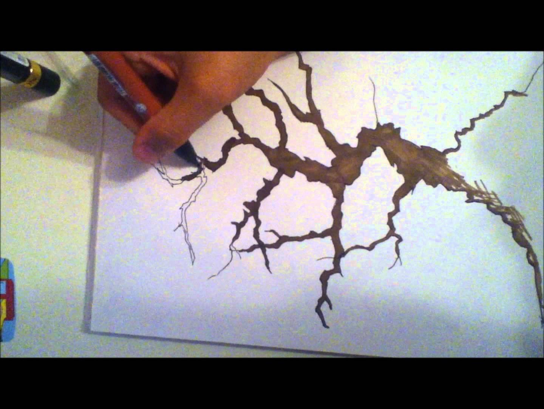 1440x1080 Cherry Blossom Tree Speed Drawing