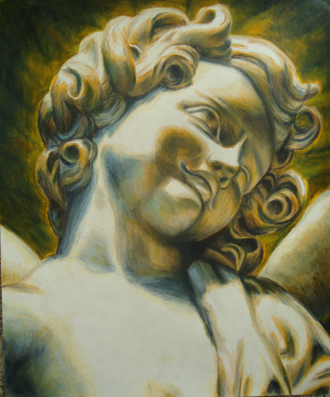 1247x1500 Original Angel Art Gift For Remembrance Cherub Angel