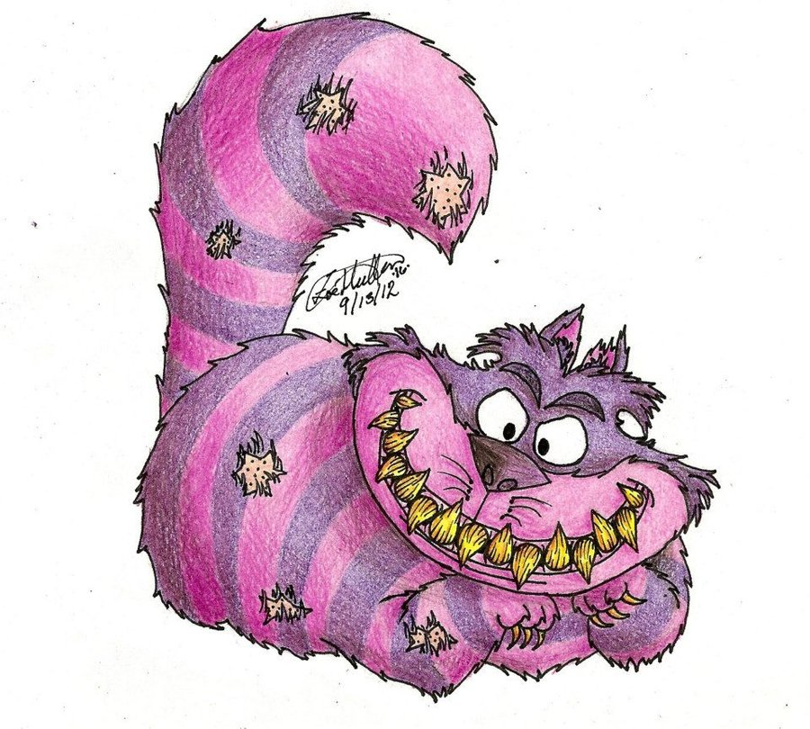 900x810 Creepy Ish Cheshire Cat By Iirawrdinosaurii