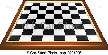 450x232 Empty Chess Board Isolated On White Background Vector Clipart