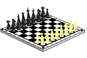 300x200 How To Draw A Chess (Board And Initial Position Of Figures