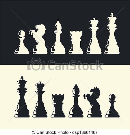 450x470 Chess Pieces Collection. Vector Vector