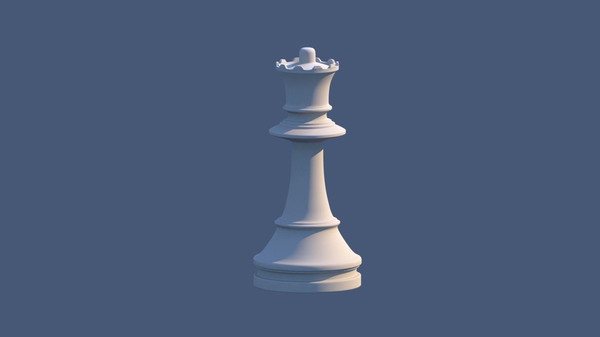 1920x1080 Queen Chess Piece 3d Asset Cgtrader