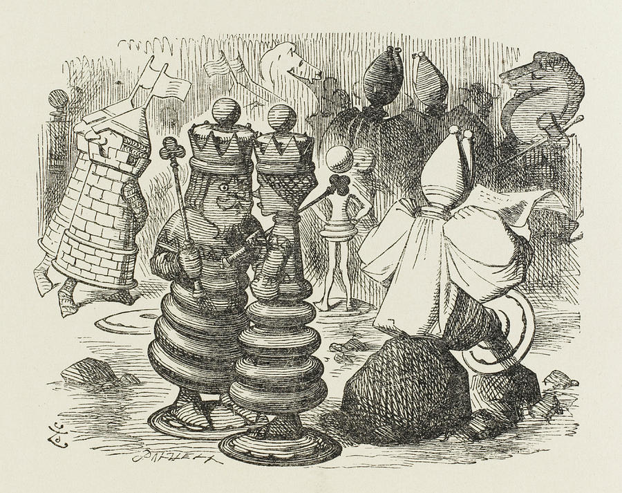 900x713 Chesspieces The Chesspieces Drawing By Mary Evans Picture Library