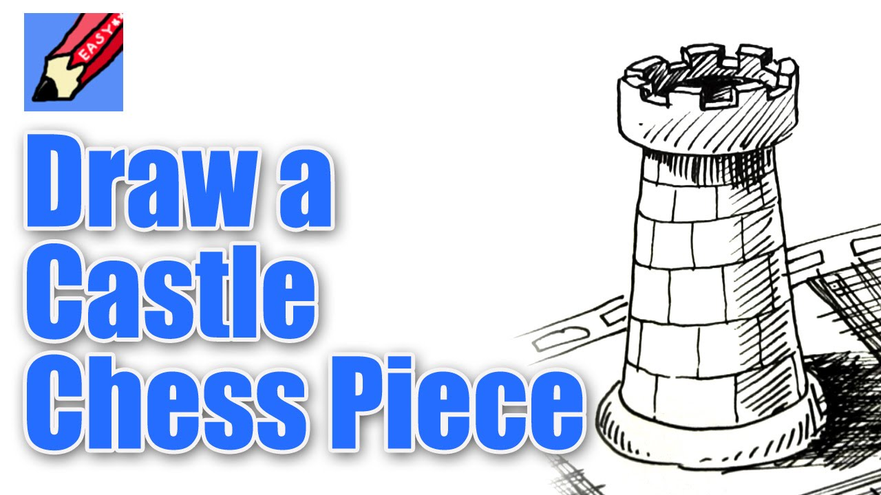 1280x720 How To Draw A Chess Castle Or Rook