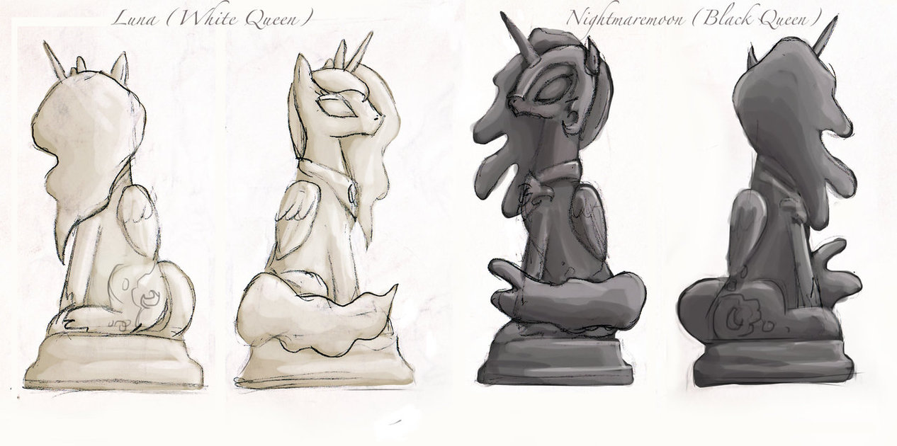 1266x630 Mlp Chess Set Queen Pieces By Enigmaticelocution
