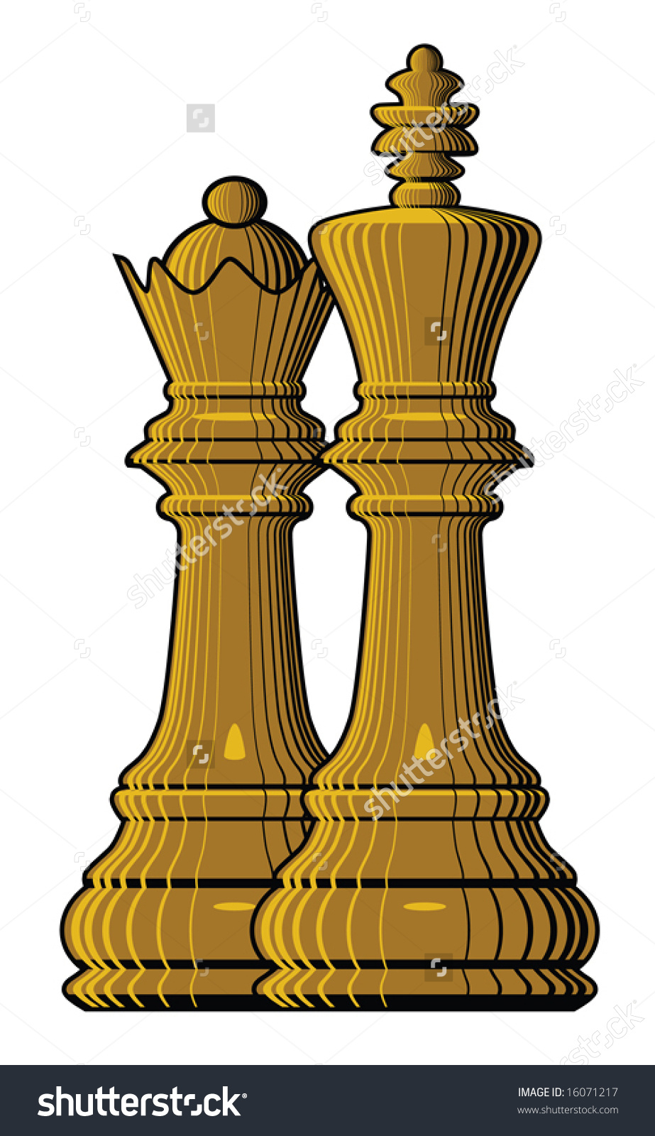 923x1600 Queen Chess Piece Drawing King Queen Chess Pieces Vector Stock