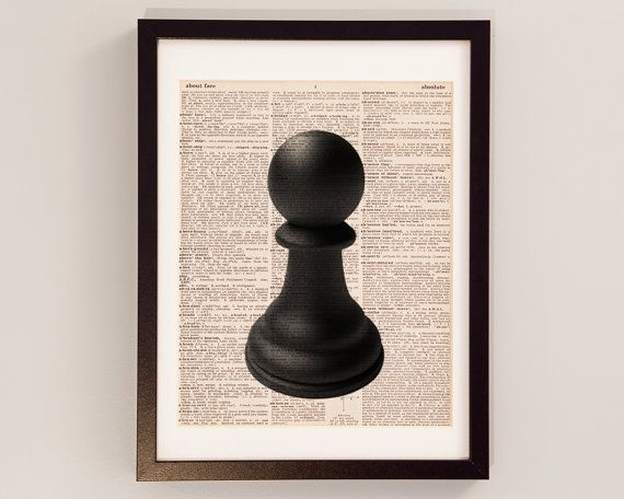 570x456 Chess pieces drawings Pawn Chess Piece Art Print
