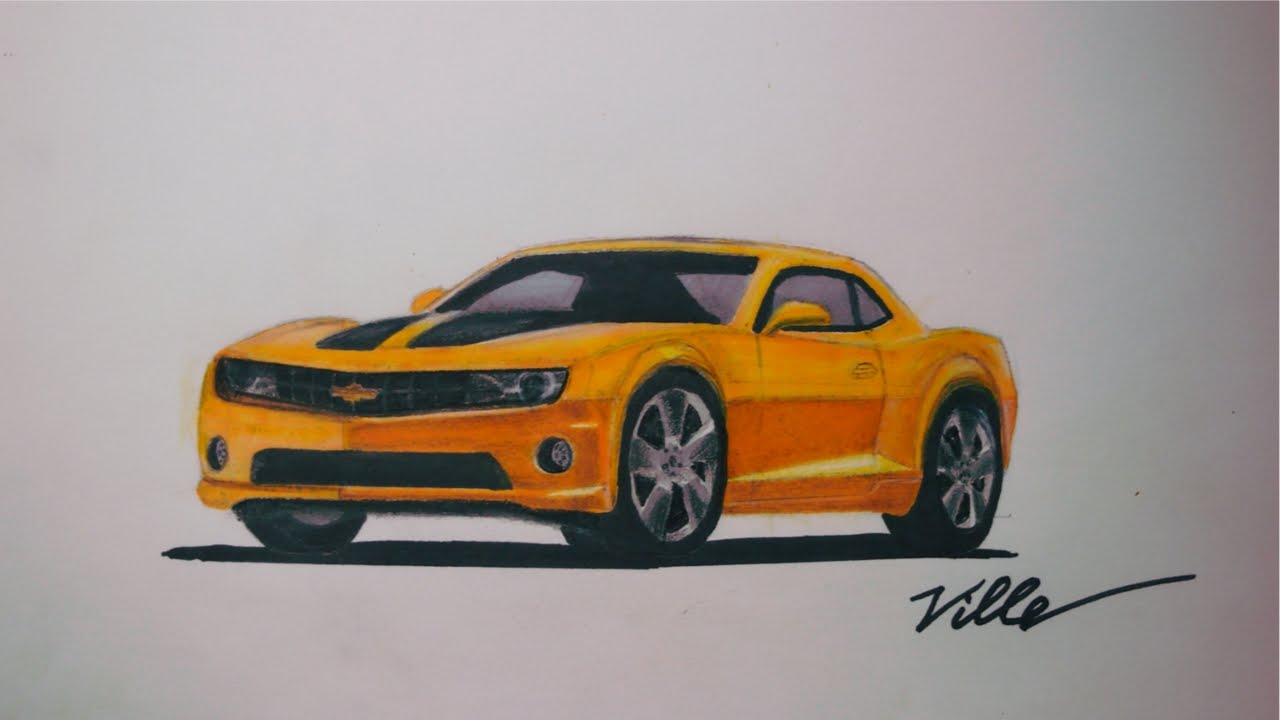 1280x720 Chevrolet Camaro Speed Drawing