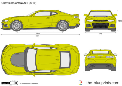 400x283 Chevrolet Camaro Zl1 Vector Drawing