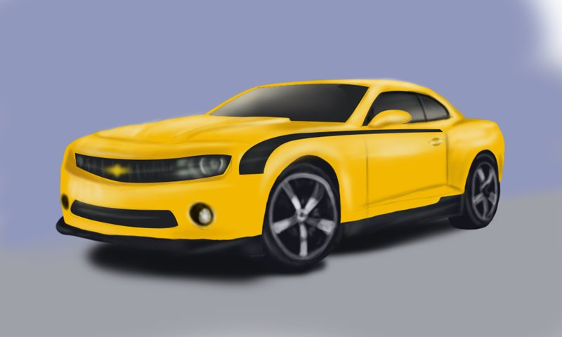 800x480 Learn How To Draw A Chevrolet Camaro (Sports Cars) Step By Step