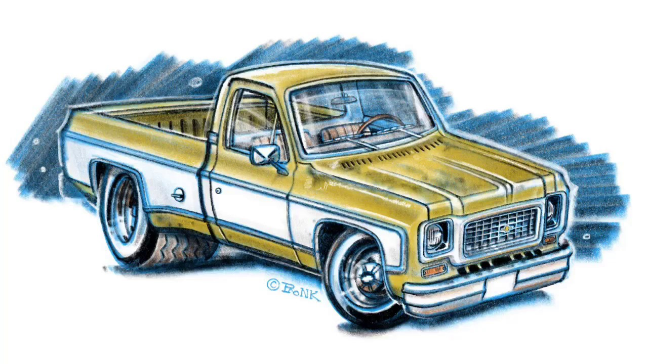 1280x720 Drawing A Truck (Chevrolet C10)