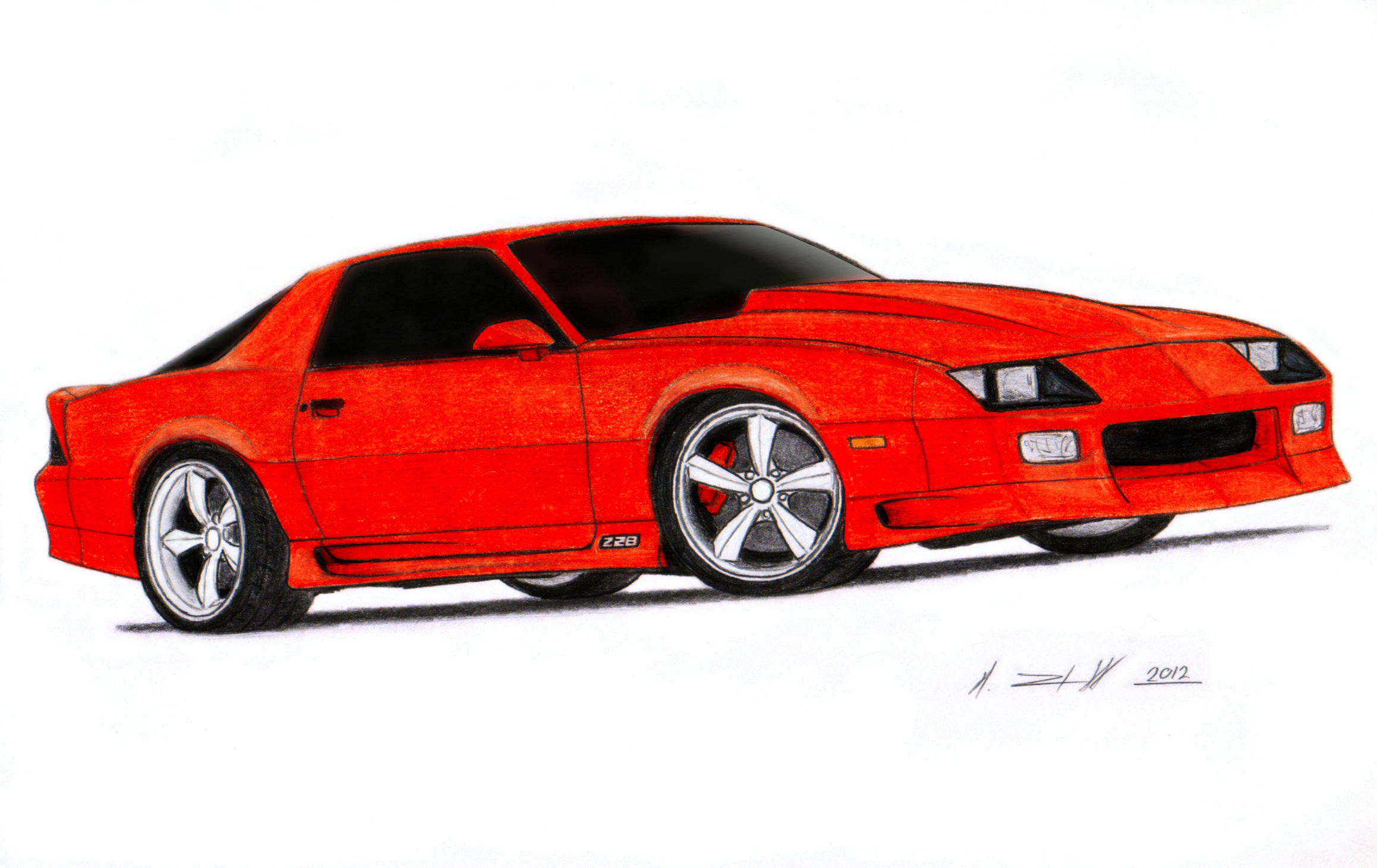 2317x1461 1992 chevrolet camaro z28 iroc z drawing by vertualissimo
