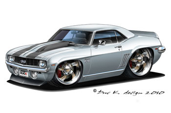 350x233 Cool Muscle Cartoon Cars 1969 Chevy Camaro Ss Added To