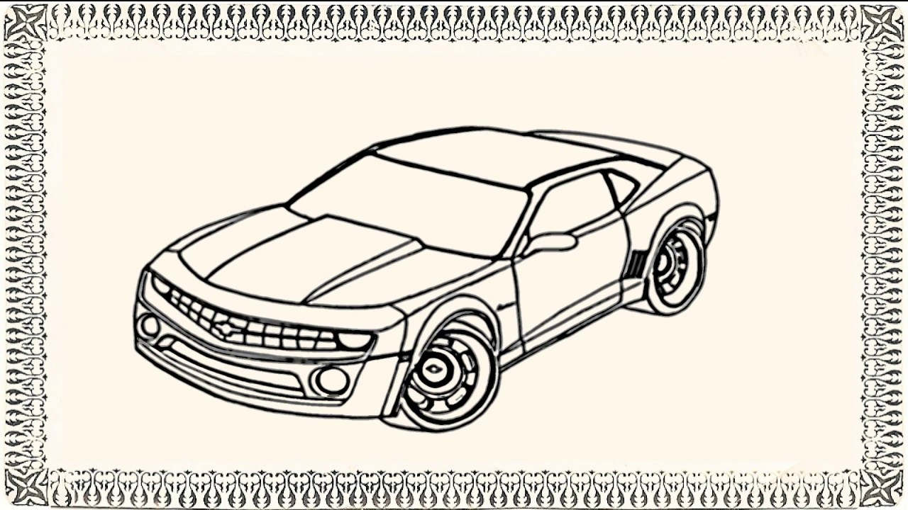 1280x720 How To Draw Chevy Camaro