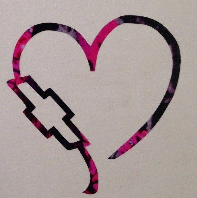 638x640 Chevy Heart Emblem Vinyl Decal 5 Truck Purple Pink Muddy Blue