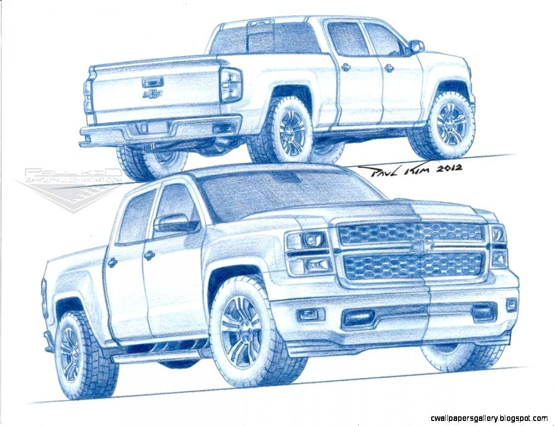 1092x840 Chevy Silverado Truck Drawings My Car