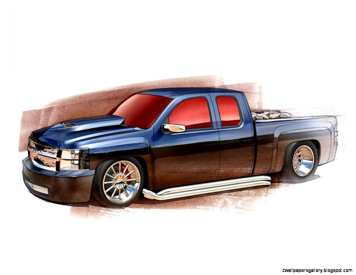 1177x912 Chevy Silverado Truck Drawings Wallpapers Gallery