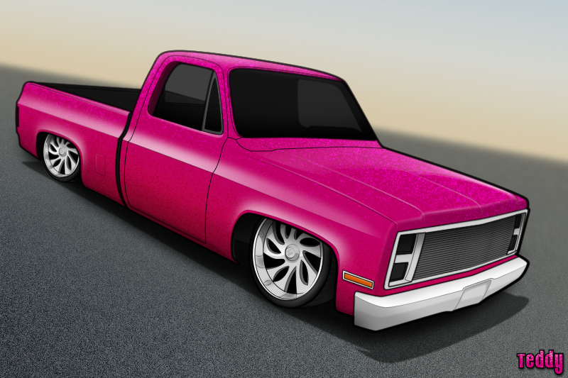 800x533 Chevy Truck Toon By Djteddy