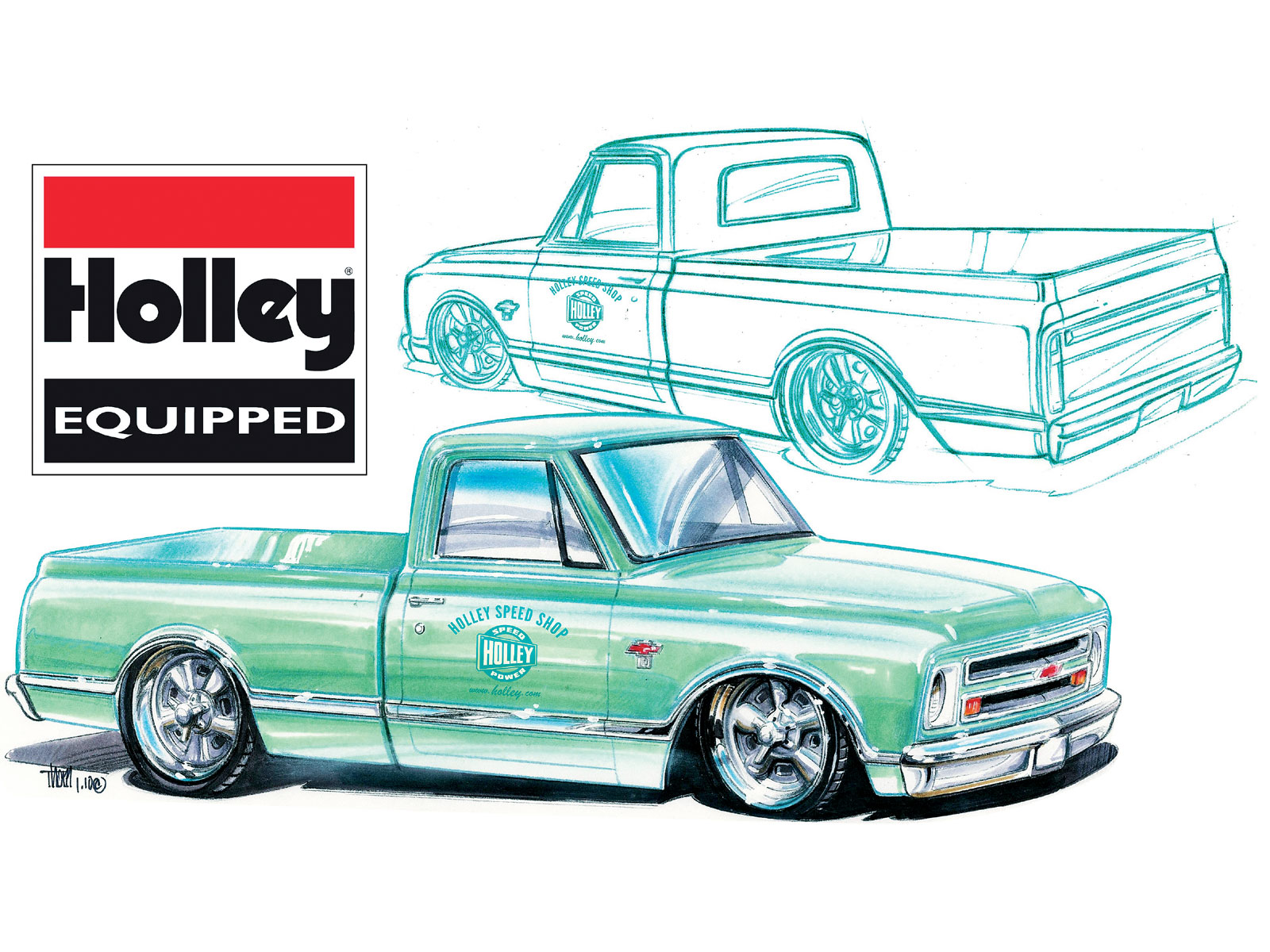1600x1200 Cool Chevy Truck Drawings Wallpapers Background