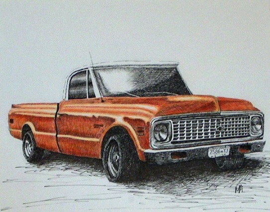 543x427 Truck Drawing Portraits By Miranda