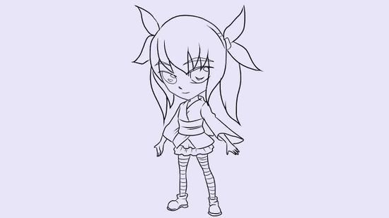 how to draw a cute chibi