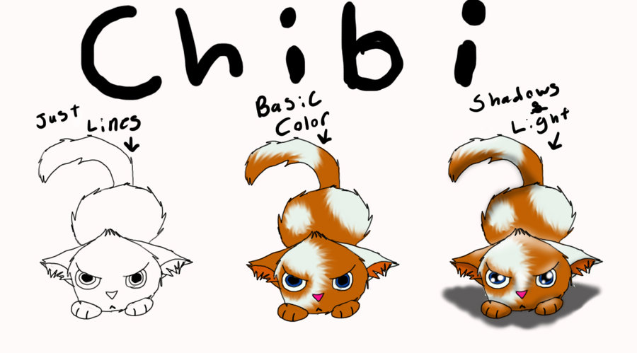 High Quality 900x499 My Styles Of Drawing Chibi Cats By ShadowKrafts On DeviantArt