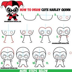 236x238 How To Draw Cute Chibi Harley Quinn From Dc Comics In Easy Step By