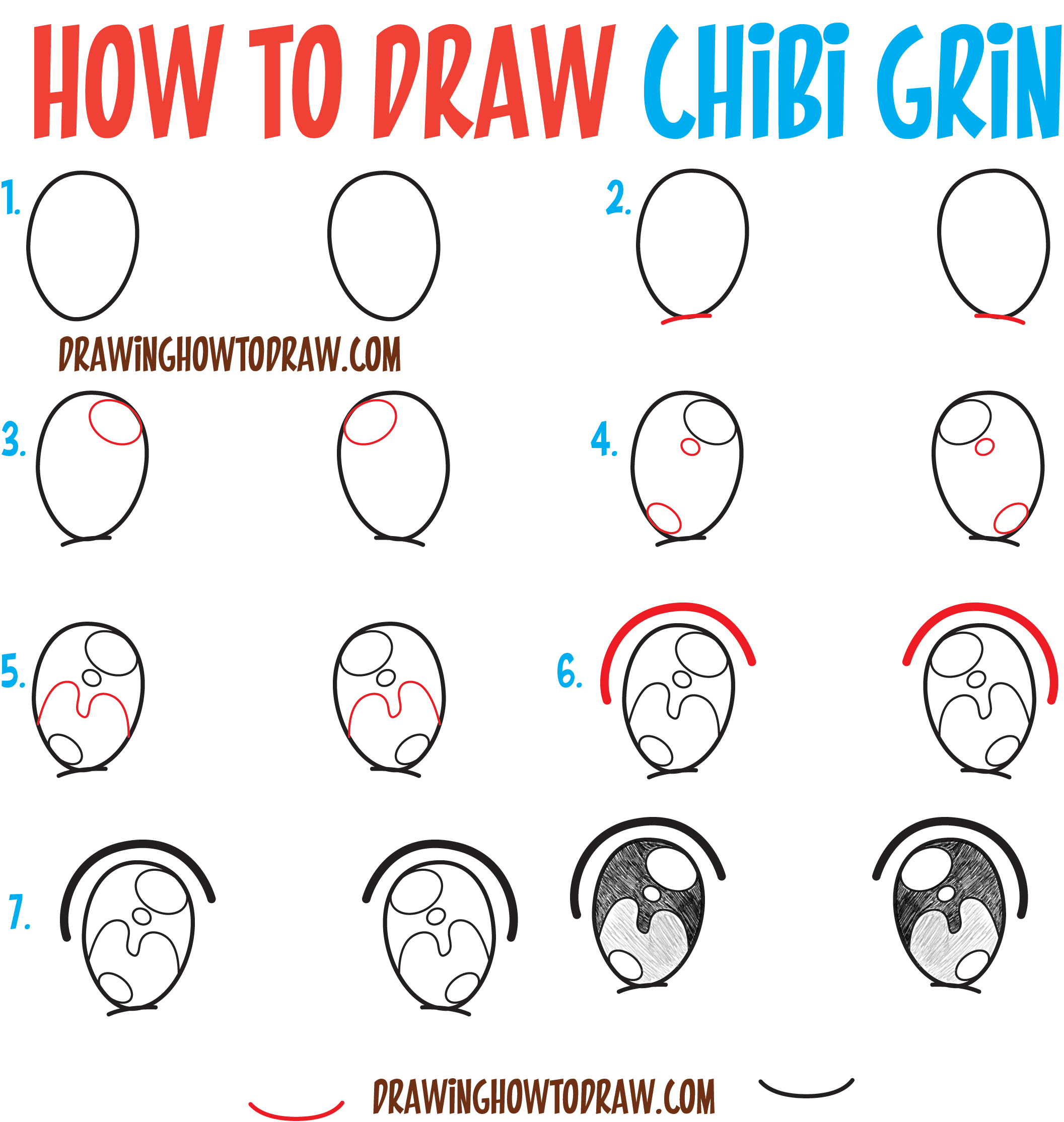 2113x2229 How To Draw Happy Smiling Laughing Chibi Expressions