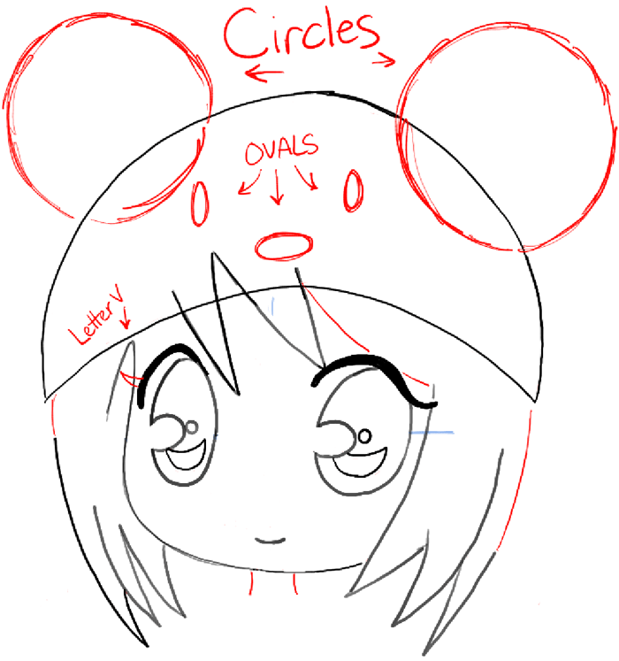 700x747 How To Draw A Chibi Girl With Cute Mouse Hat Easy Step By Step