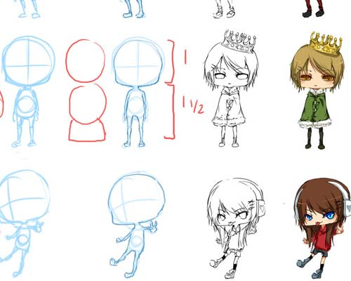 500x400 gallery how to draw chibis tutorials