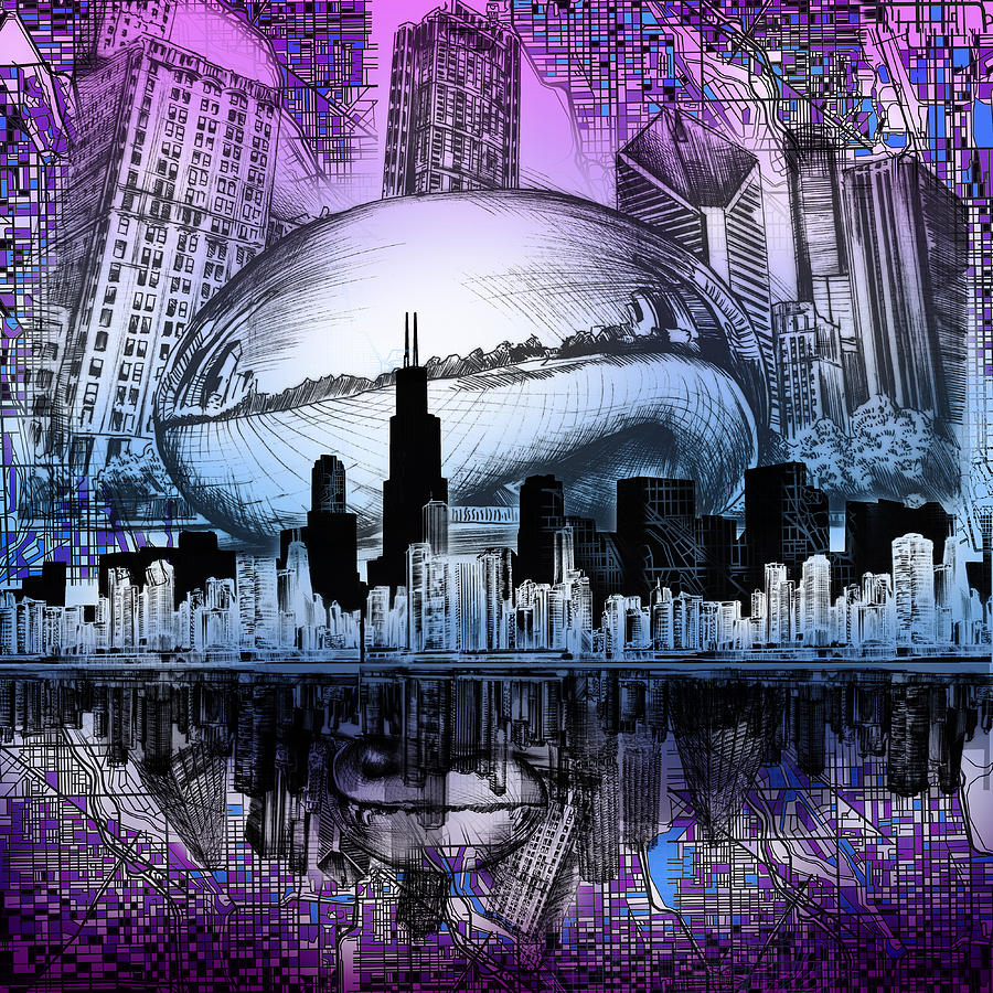 900x900 Chicago Bean Digital Art Fine Art America
