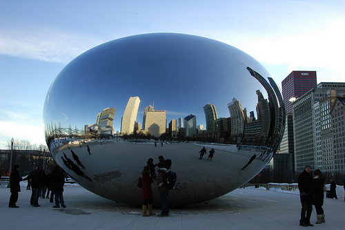 500x333 Chicago Sculptures The Bean The Semi Normal, Day To Day Life