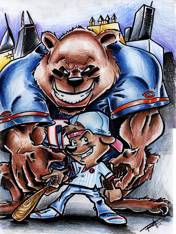 679x900 Bears And Cubs Drawing By Big Mike Roate