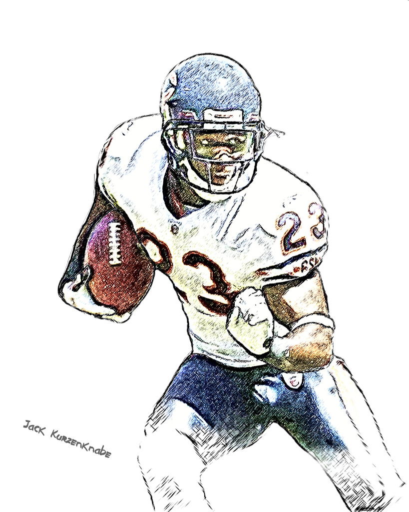 819x1024 Chicago Bears Devin Hester View All My Nfl Drawings By