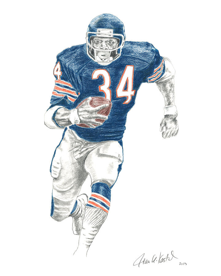 720x900 Chicago Bears Drawings Fine Art America