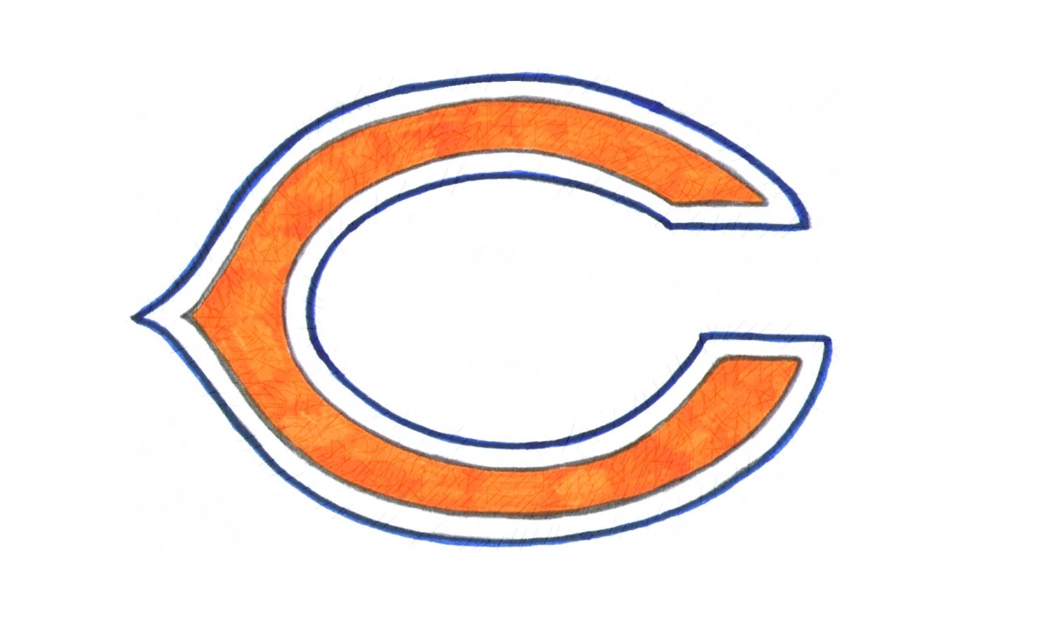 1500x886 How To Draw The Chicago Bears Logo (Nfl)