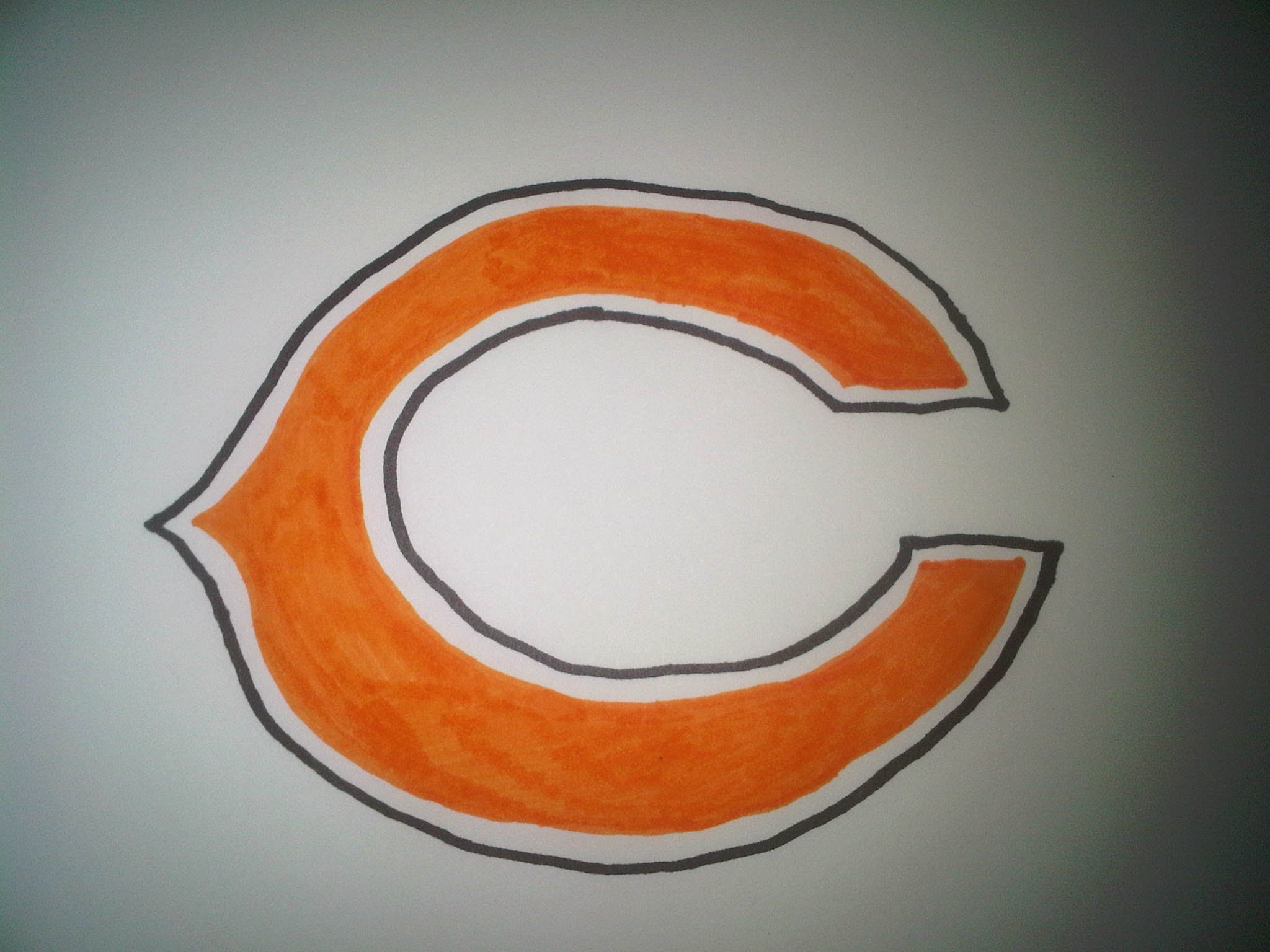 2048x1536 How To Draw The Chicago Bears Logo