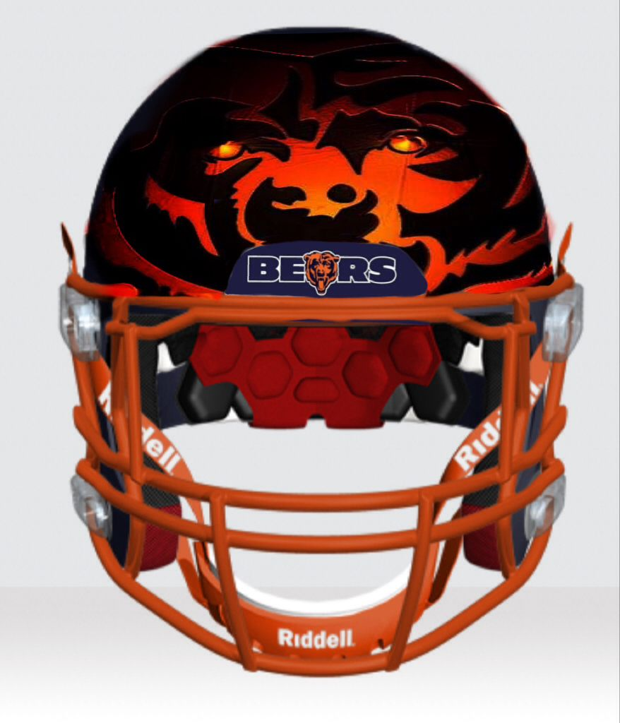 878x1024 Bears Prototype Helmet Designed By Ace Ivey Chicago Fans Only