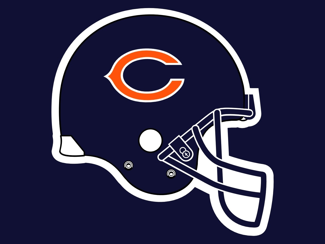 Chicago Bears Helmet Drawing At Getdrawings Com Free For