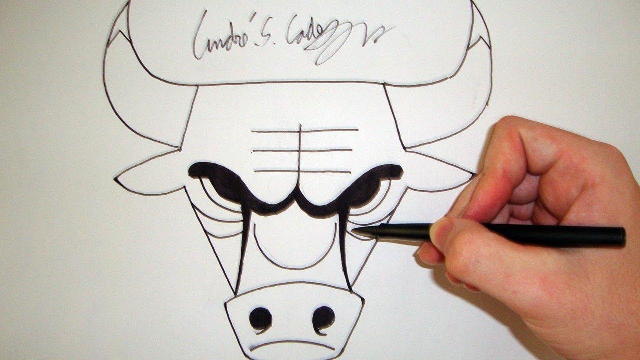 1280x720 Como Desenhar A Logo Chicago Bulls [Nba]