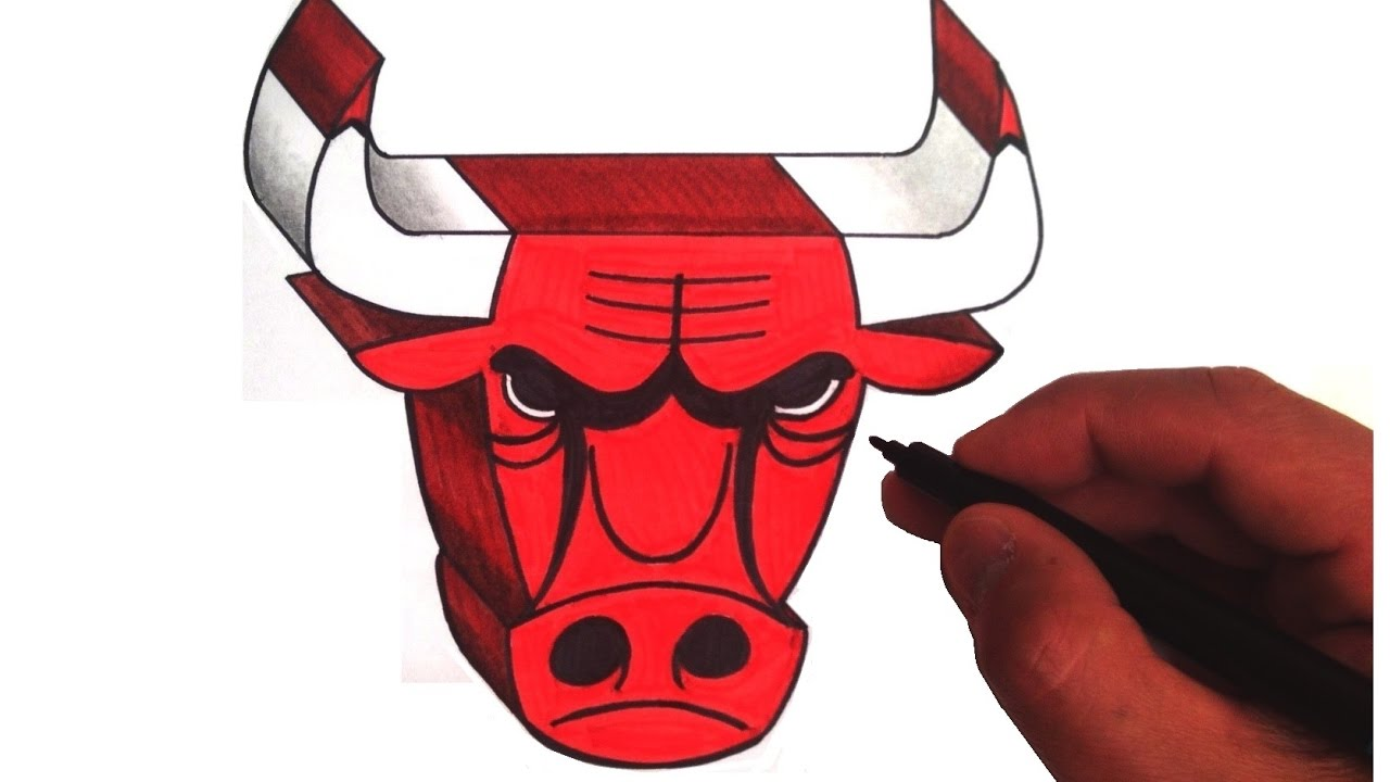 1280x720 How To Draw The Chicago Bulls Logo In 3d