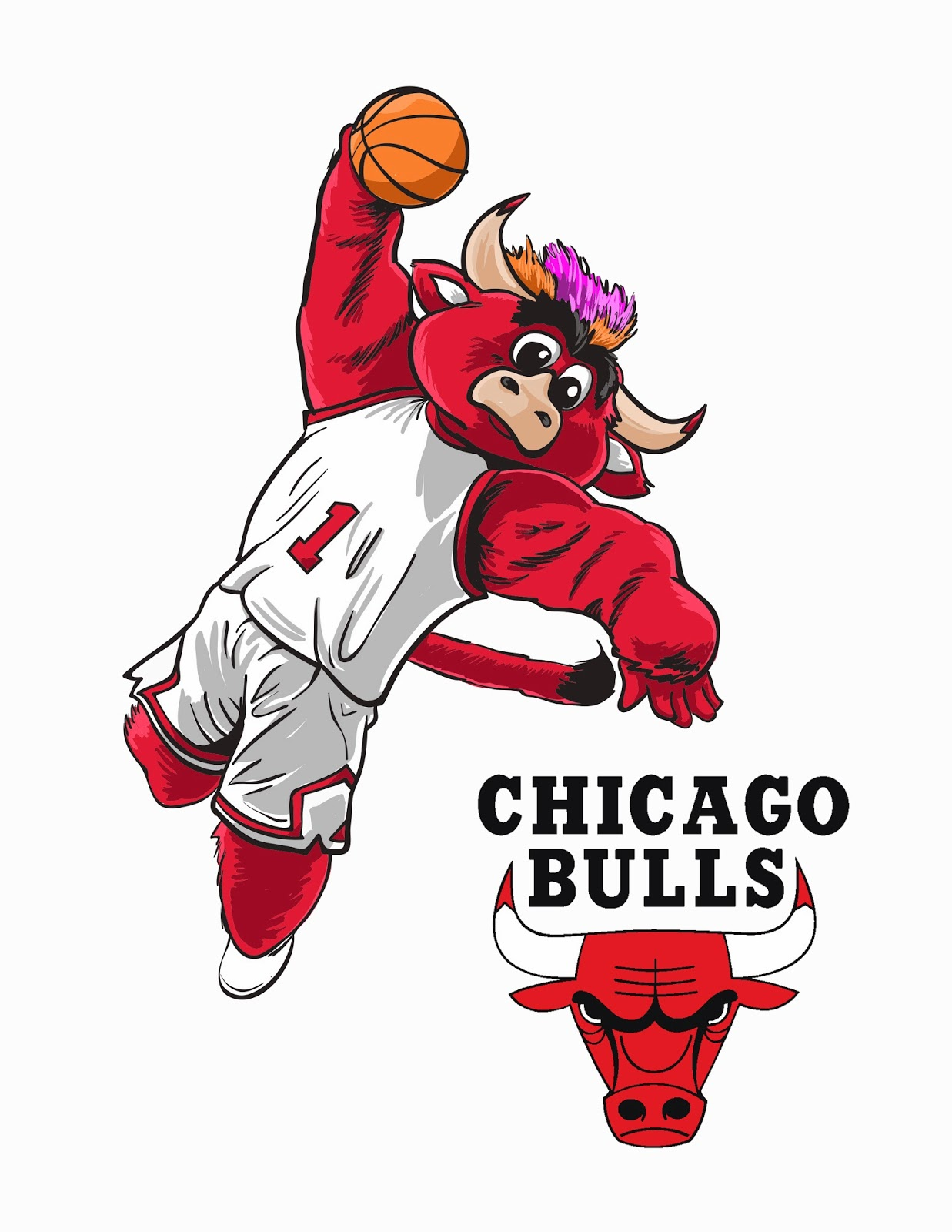 Chicago Bulls Logo Drawing at GetDrawings.com | Free for personal ...