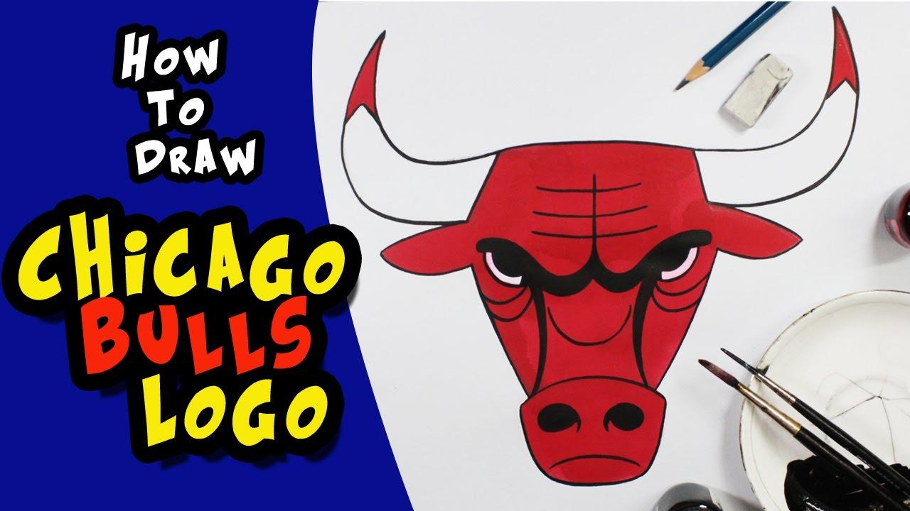 1280x720 How To Draw The Chicago Bulls Logo (Nba)usa