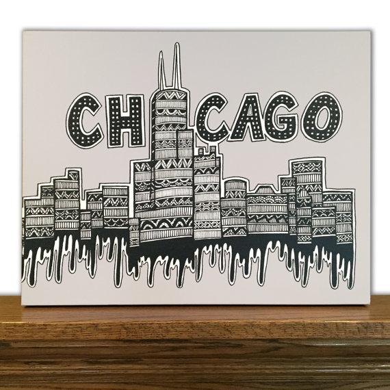 570x570 Chicago Canvas Art Chicago Skyline Windy City Home Decor