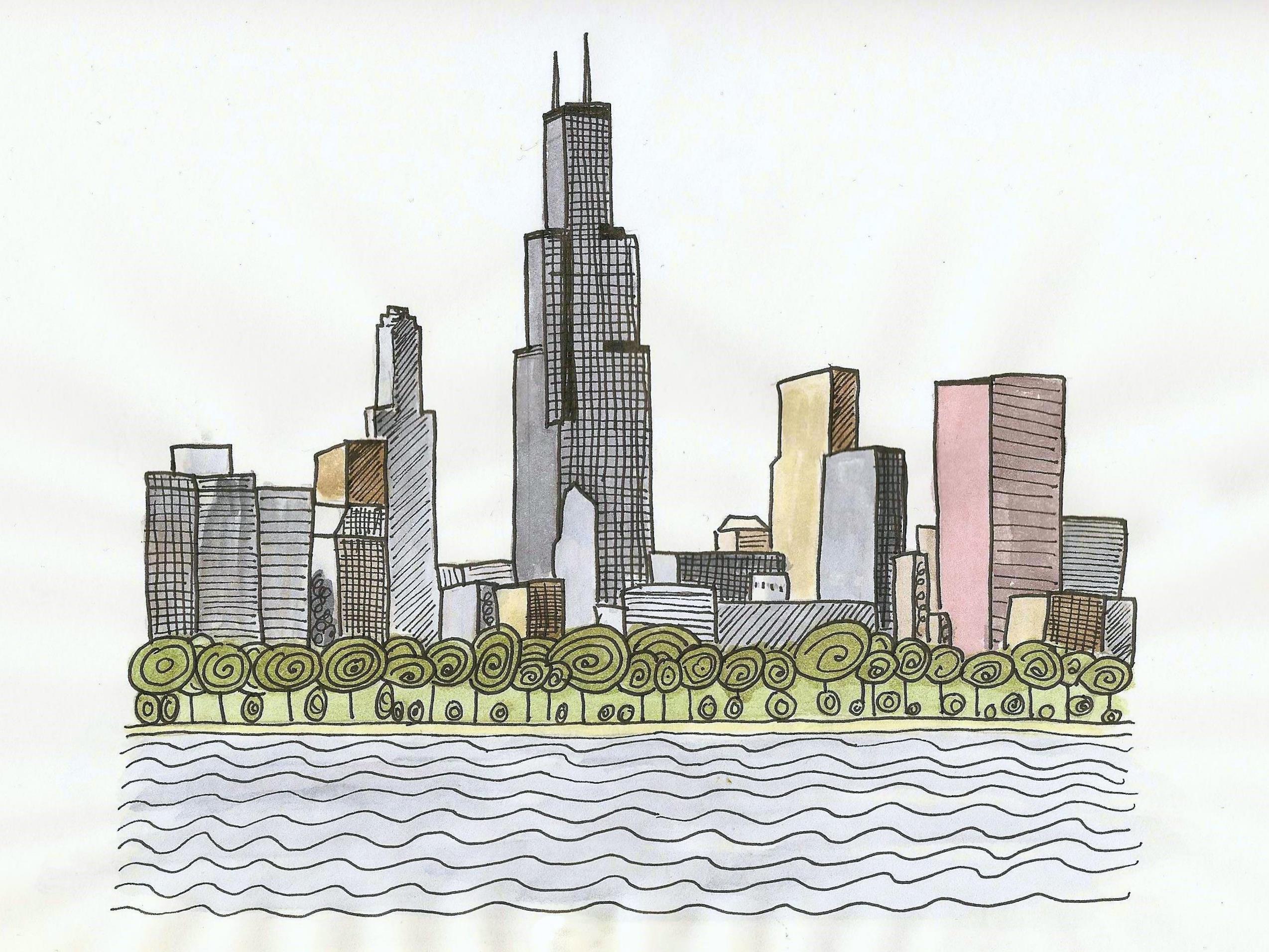 2548x1912 Chicago Skyline Making Made