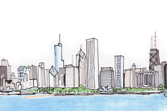 693x462 Image Result For Chicago Skyline Drawing Jordans
